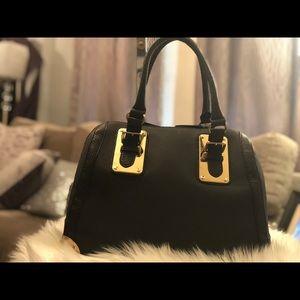 ALDO Satchel Bag Black with Gold embellishments